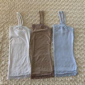 Bundle of 3 Ann Taylor lace camis